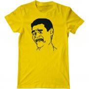 Мужская футболка с принтом Trollface Yao Ming Face