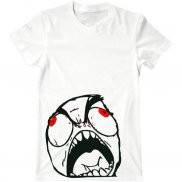 Мужская футболка с принтом Trollface