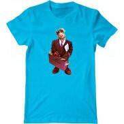 Мужская футболка с принтом Деловой Альф