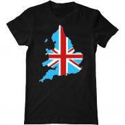 Мужская футболка с принтом Британский Флаг