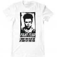 Мужская футболка с принтом Бойцовский Клуб Бред Питт