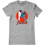 Мужская футболка с принтом Дзюдо