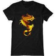 Мужская футболка с принтом Золотой Дракон