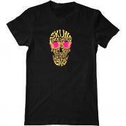 Мужская футболка с принтом Skull