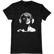 Мужская футболка с принтом Skull music