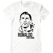 Мужская футболка с принтом Ronaldo