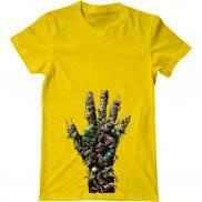 Мужская футболка с принтом Рука из паразитов.