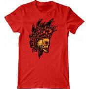 Мужская футболка с принтом Череп индейца
