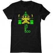Мужская футболка с принтом Dj is God