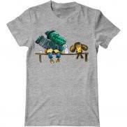 Мужская футболка с принтом крокодил гена чебурашка