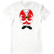 Мужская футболка с принтом Костюм Санты