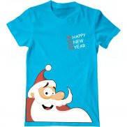 Мужская футболка с принтом Санта Клаус