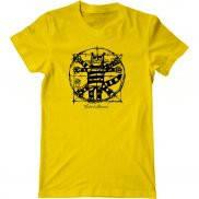 Мужская футболка с принтом Кот да Винчи