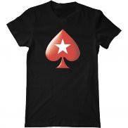 Мужская футболка с принтом Poker stars logo