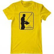 Мужская футболка с принтом День рыбака