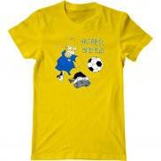 Мужская футболка с принтом Украинский футбол Гомер