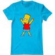 Мужская футболка с принтом Барт крут