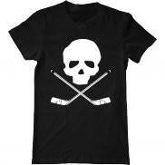 Мужская футболка с принтом Hockey skull