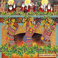 """Схема для вышивки бисером на натуральном холсте  """"Рождественские сувениры"""" AC-075"""