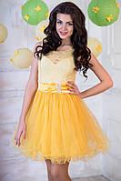 """Нарядное, выпускное платье """"Оливия"""" (жёлтое)"""