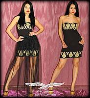 Платье-трансформер со съемной фатиновой юбкой