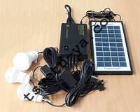 Портативный аккумулятор для туризма GDLITE GD-8365, солнечная батарея, 3 светодиодные лампы, Power Bank, USB