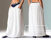 Летняя юбка в пол для обладательниц пышных форм