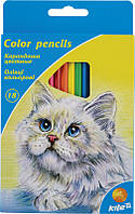 Карандаши цветные,18шт КайтK15-052K