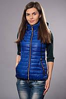 Жилетка женская молодежная утепленная. Код модели ЖЛ-04-12-14. Цвет яркий синий.