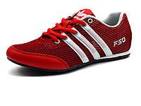 Кроссовки летние F50 унисекс, текстиль(сетка)/ кожа, красные, фото 1
