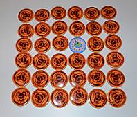 Значок с логотипом команды по пауэрлифтингу Оранжевый