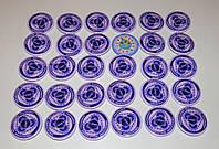 Значок с логотипом команды по пауэрлифтингу Фиолетовый