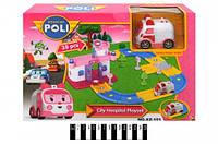 Робокар Поли Станция скорой помощи и трансформер Эмбер в наборе Robocar Poli