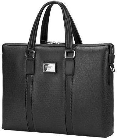 """Стильная сумка из качественной эко-кожи для ноутбука 16"""" Continent CM-142BK черный"""