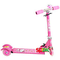 Детский трехколесный самокат Profi Trike BB 3-001. Хелло Китти Розовый