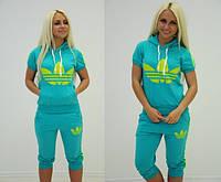 """Женский летний спортивный костюм с бриджами """" Adidas """" Dress Code"""