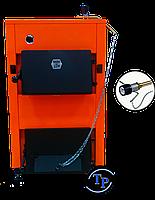 Котел стальной для дров ДТМ - КТ (М) 10 кВт с регулятором тяги Regulus