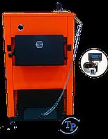 Твердотопливный дровяной котел ДТМ - КТ (Турбо) 10 кВт с комплектом автоматики