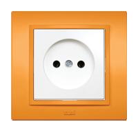 Розетка EL-BI  Zena Colorline Оранжевый
