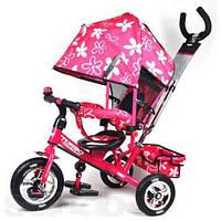 Трехколесный велосипед - коляска Turbo Trike М 5361 с надувными колесами (3цвета)