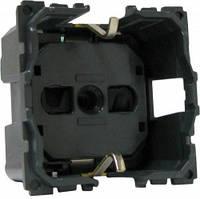 Механизм розетка 2К+З с безвинтовыми зажимами заземлением и шторками немецкий стандарт Legrand Celiane (67153)