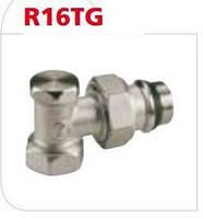 """Угловой отсечной клапан, с покрытым пластиком отводом, с герм.прокл. 1/2"""" Giacomini"""