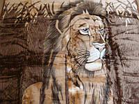 Плед акриловый евроразмер Лев в камышах