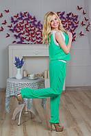 Костюм женский с брюками шифон мята, фото 1