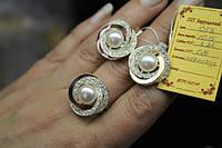 Серебряный набор украшений 058 серьги и кольцо