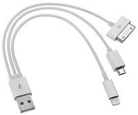 Кабель USB 3 в 1 для зарядки iPhone 5/5s6/6c и iPad 4/ iPad Air/Air2/ iPad mini/mini 2/3