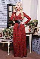 Платье Клетка красный, фото 1