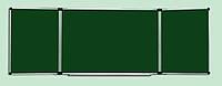 Доска комбинированная (для мела, маркера) ABC Office (400x100), в алюминиевой рамке, трехсекционная
