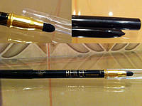 Черный карандаш для глаз smoky eyes спонжик для растушовки карандаша