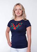 Вышитая женская футболка